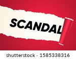 scandal reveal with paper torn...   Shutterstock .eps vector #1585338316