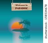 Tropical Paradise  Eps10 Vector