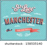 vintage greeting card from... | Shutterstock .eps vector #158535140