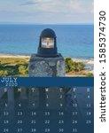July 2020 Calendar With A Blue...