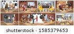 people in the photostudio... | Shutterstock . vector #1585379653