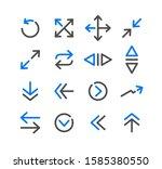 arrow vector icon set design | Shutterstock .eps vector #1585380550