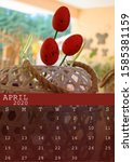 April 2020 Calendar With Two...