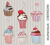 vector collection of decorative ... | Shutterstock .eps vector #158540240