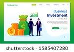 business investment landing... | Shutterstock .eps vector #1585407280