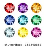 colored gems | Shutterstock .eps vector #158540858