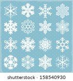 vector snowflakes. | Shutterstock .eps vector #158540930