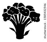 vector illustration of broccoli ... | Shutterstock .eps vector #1585432546