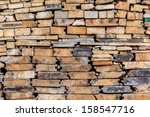 firewood pile ready for winter | Shutterstock . vector #158547716