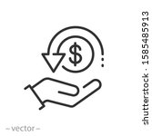 cashback icon  return money ... | Shutterstock .eps vector #1585485913