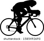 silhouette of a cyclist racer... | Shutterstock .eps vector #1585492693