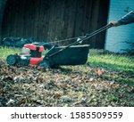 Working Gasoline Lawn Mower...