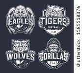baseball and football teams... | Shutterstock .eps vector #1585518376