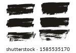 flat paint brush thin full... | Shutterstock .eps vector #1585535170
