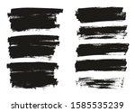 flat paint brush thin full... | Shutterstock .eps vector #1585535239