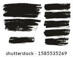 flat paint brush thin full... | Shutterstock .eps vector #1585535269