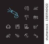 instrument icons set. pick axe...