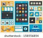 flat smart phone icons  vector... | Shutterstock .eps vector #158556854