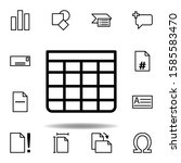 table icon. can be used for web ...