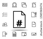 page number icon. can be used...
