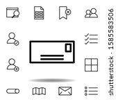 envelopes icon. can be used for ...