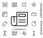 newspaper icon. can be used for ...