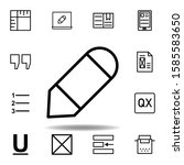 pencil tool icon. can be used...