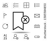bookmark  delete  cross icon....