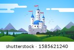 fantasy landscape with... | Shutterstock .eps vector #1585621240
