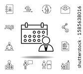 calendar  schedule  worker icon....