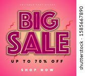 big sale text effect editable ... | Shutterstock .eps vector #1585667890