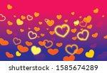 vector of happy valentine s day ... | Shutterstock .eps vector #1585674289