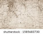 wyoming state on the map | Shutterstock . vector #1585683730
