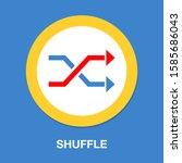 shuffling icon  change order ... | Shutterstock .eps vector #1585686043