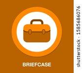 briefcase icon. flat... | Shutterstock .eps vector #1585686076