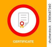 graduation certificate diploma  ... | Shutterstock .eps vector #1585687360