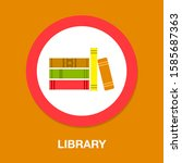 vector books library... | Shutterstock .eps vector #1585687363
