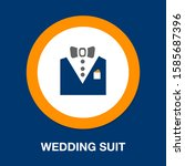 vector tuxedo   wedding suit ... | Shutterstock .eps vector #1585687396