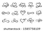 infinity love flourish. hand... | Shutterstock .eps vector #1585758109