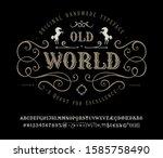 font old world. craft retro...   Shutterstock .eps vector #1585758490