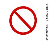 red ban sign isolated on white...