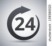 vector open 24 hours icon | Shutterstock .eps vector #158580020