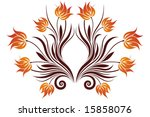 abstract vector isolated on... | Shutterstock .eps vector #15858076
