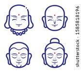 buddha icon face avatar vector...   Shutterstock .eps vector #1585818196