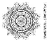 mandala isolated on the white...   Shutterstock .eps vector #1585825459