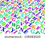 letters of the english alphabet.... | Shutterstock . vector #158583020