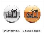 black line 3d printer icon... | Shutterstock .eps vector #1585865086