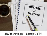 minutes of meeting with coffee... | Shutterstock . vector #158587649