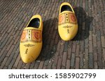 Bright Yellow Wooden Clogs ...