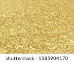 sparkling gold background.... | Shutterstock .eps vector #1585904170